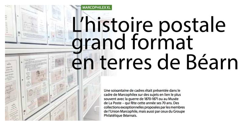 Marcophilex XL : l'histoire postale grand format en terres de Béarn