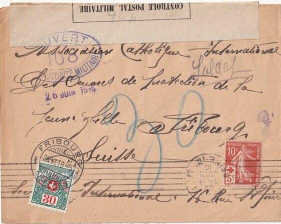 Croix-Rouge – Censure postale
